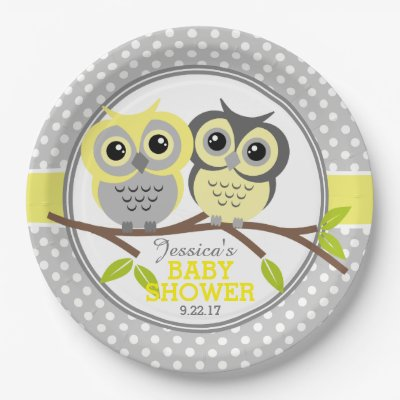 sc 1 st  Zazzle & Adorable Owls Baby Shower Paper Plate   Zazzle.com