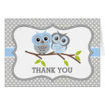 Adorable Owls Thank You Stationery Note Card