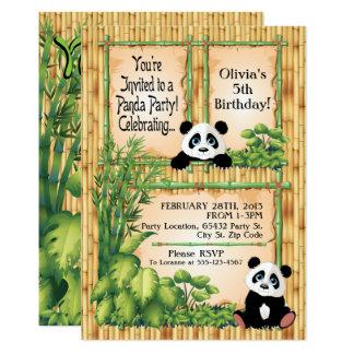 Adorable Panda Bear Birthday Party Invitation