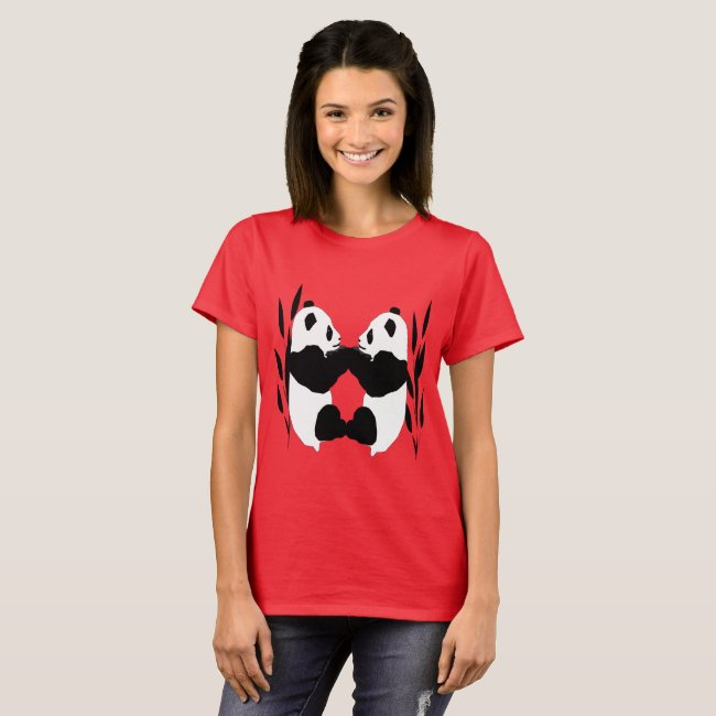 Adorable Panda Bears Abstract Animal T-Shirt