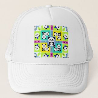 Adorable Panda Bears Bright Colors Trucker Hat