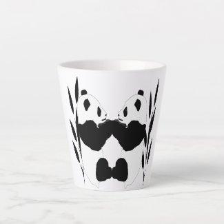 Adorable Panda Bears Latte Mug