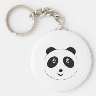 Adorable Panda Little Zoo Basic Round Button Keychain
