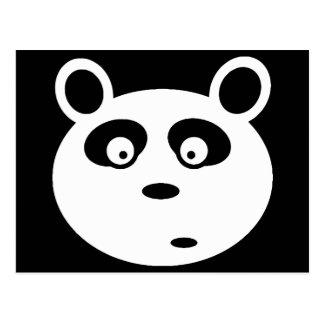 adorable panda white face customizable postcard