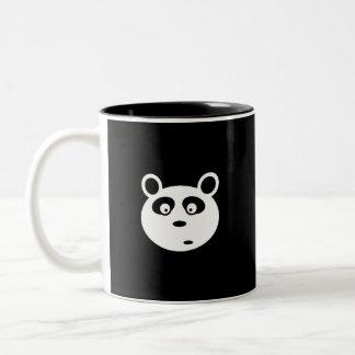 adorable panda white face customizable Two-Tone coffee mug