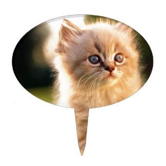 Adorable pare el gatito del movimiento decoraciones de tartas
