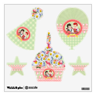 Adorable Party Decor or Girl's Room Decoration - Wall Sticker