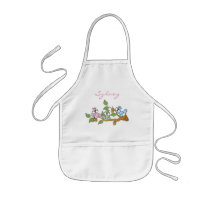 Adorable Pastel Colored Squirrels | Personalize Kids' Apron
