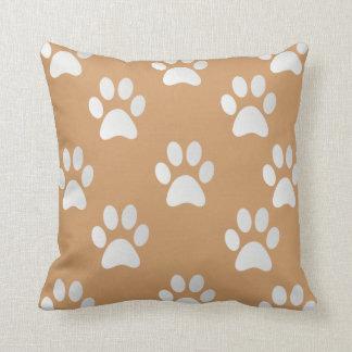 Adorable Paw Prints Throw Pillow