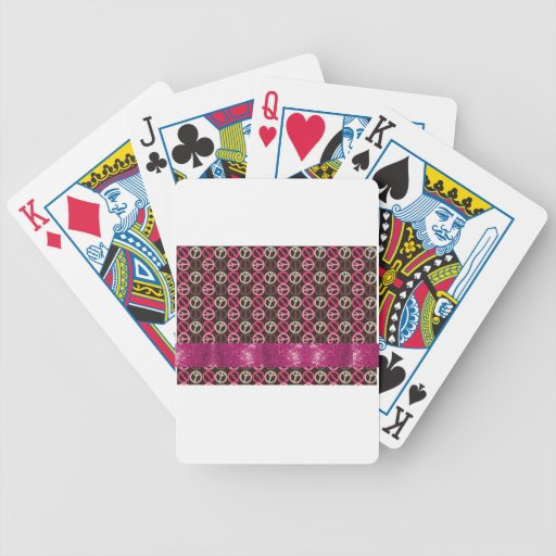 Adorable Peace Sparkle Gifts Card Deck