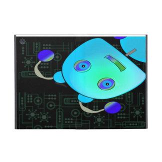 Adorable Peek A Boo Blue Robot Cover For iPad Mini