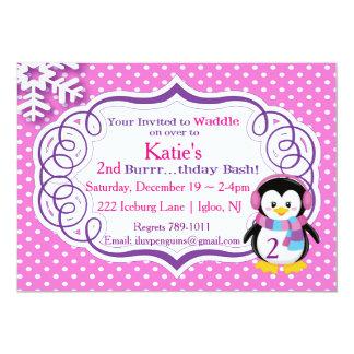 Adorable Penguin Invite