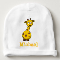 Adorable Personalized Baby Giraffe Baby Beanie