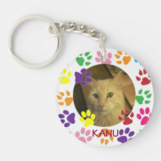 Adorable Personalized favorite Pet Photo and Name Keychain