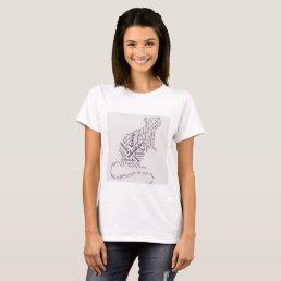 Adorable Pet Rat Word Cloud T-Shirt