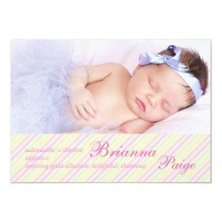 Adorable - Photo Birth Announcement