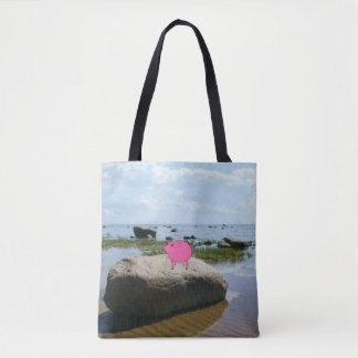 Adorable PiGgy on vacation! Tote Bag