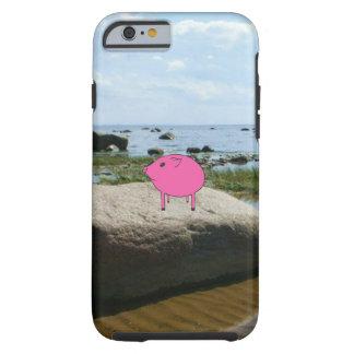 Adorable PiGgy on vacation! Tough iPhone 6 Case
