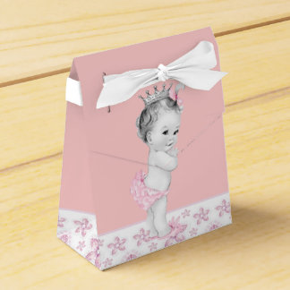 Adorable Pink Baby Shower Favor Boxes