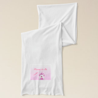 Adorable Pink Castle Mommy-to-Be Baby Shower Scarf