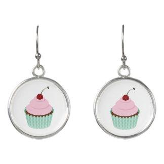 Adorable Pink Cupcake, Birthday Cake Attire Earrings