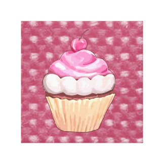 Adorable Pink Cupcake Canvas Print