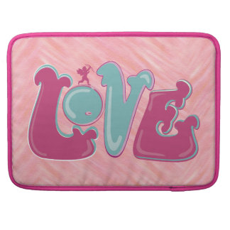 Adorable pink Cupid Love Sleeve For MacBook Pro