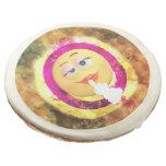 Adorable Pink Emoji Party Sugar Cookie