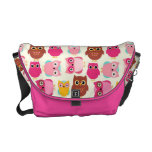Adorable Pink Every Which Way Owls Bag Messenger Bag