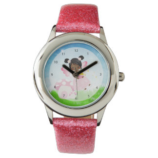 Adorable pink fairy wristwatch