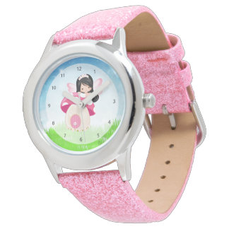 Adorable pink fairy wristwatches