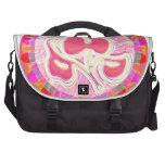 Adorable Pink Leaf Jewel : Dazzling Border Computer Bag