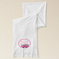 Adorable Pink Owl Mommy To Be Baby Shower Twins Scarf