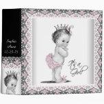 Adorable Pink Princess Baby Binder