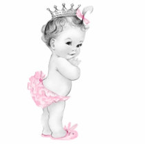 Adorable Pink Princess Baby Girl Shower Cutout