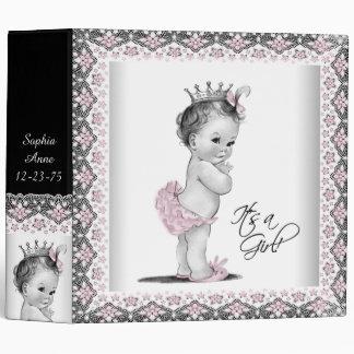 Adorable Pink Princess Baby Vinyl Binders