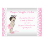 Adorable Pink Princess Diaper Raffle Ticket Large Business Cards (Pack Of 100)