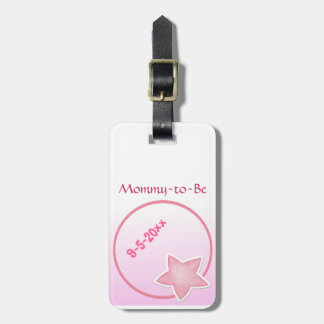 Adorable Pink Star, Mommy-to-Be Baby Shower Bag Tags