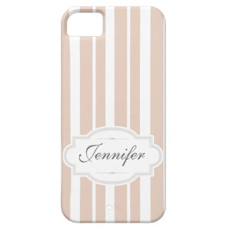Adorable Pink Stripes with Name iPhone Case iPhone 5 Cases