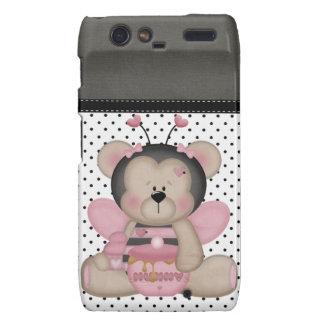 Adorable Pink Teddy Bear Motorola Droid RAZR Covers