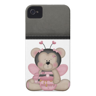 Adorable Pink Teddy Bear Case-Mate iPhone 4 Cases