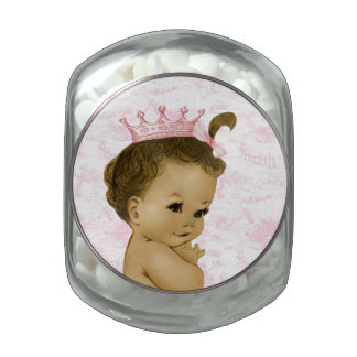 Adorable Pink Toile Princess Baby Shower Candy Jelly Belly Candy Jars