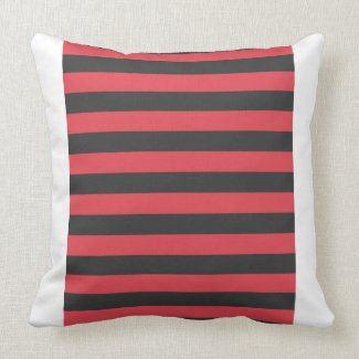 Adorable Pirate Boy in Red & Black Stripes Top Pillows