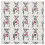 Adorable Pit Bull Fabric