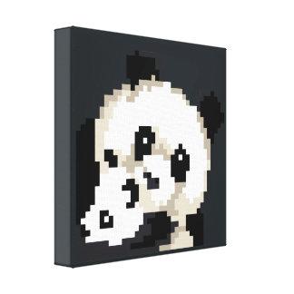 Adorable Pixel Art Panda Bears Canvas Print
