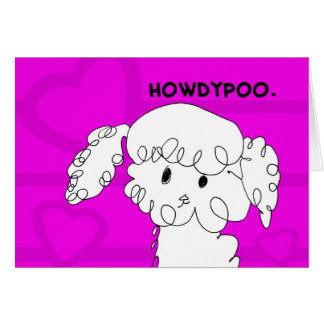 Adorable Poodle Notecard