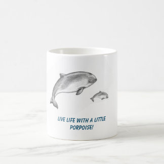 Adorable Porpoise father with calf Coffee Mug
