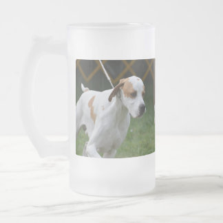 Adorable Portuguese Pointer 16 Oz Frosted Glass Beer Mug