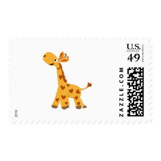 Adorable Primitive Art Giraffe Postage