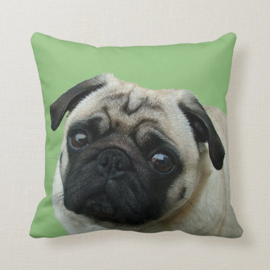 Adorable Pug American MoJo Pillows